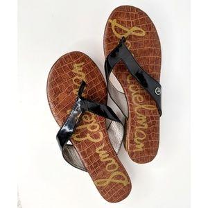 Sam Edelman Tanya Thong Cork Sandal Wedge Womens 9